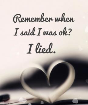 I lied