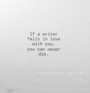 Hãy yêu một cô gái làm nghề viết lách
