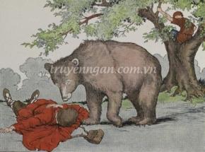 Con gấu và hai người đàn ông