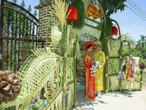 Cổng lá dừa