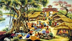 Phiên chợ xưa